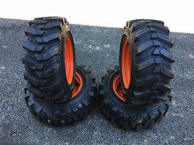 New Set 4 23x8.50-12 Camso Sks532 Skid Steer Tireswheels For Bobcat 453463s70