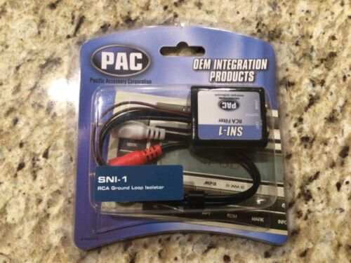 NEW PAC SNI-1 CAR STEREO RCA NOISE ELIMINATION FILTER GROUND LOOP ISOLATOR SNI1