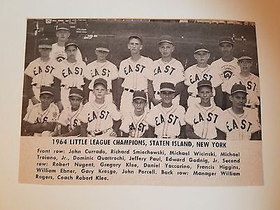 b414e0a27a0 Staten Island New York 1964 Baseball Team Picture