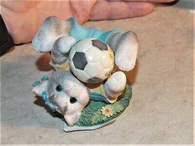 Calico Kittens Friends Are Goal Worth Saving Hillman 1998 Cat Soccer Figurine