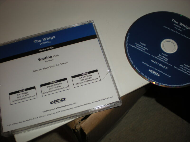 The Whigs Waiting CD SINGLE radio single one track