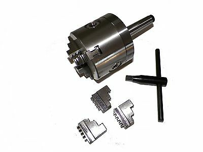 3 3 Jaw Precision Lathe Chuck With Mt2 Shank Non-rotating