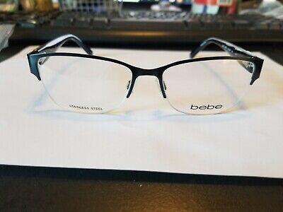 BB5124 Eyeglass Frame Sleek Brand New Navy Blue Metal/Plastic Swarovski Crystals