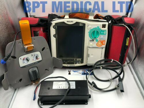 Philips Heartstart MRx 12 Lead ECG SpO2 NBP CO2 QCPR AED Monitor