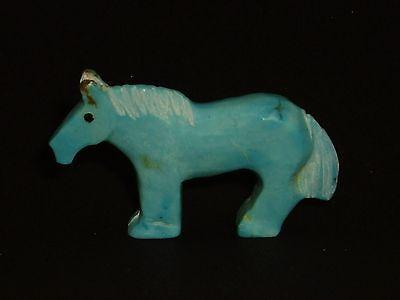 Turquoise Horse-Zuni Fetish-Native American-Stone Carving-Carol Martinez