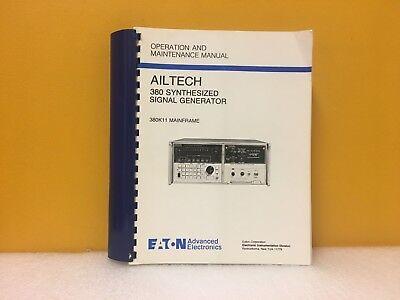 Ailtech 380 Synthesized Signal Generator 380k11 Mainframe Operation Manual