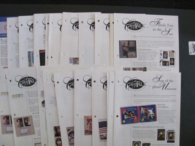 CREATIVE MEMORIES Crop Talk Instruction Sheets (76-110) Plus other Idea Sheets!
