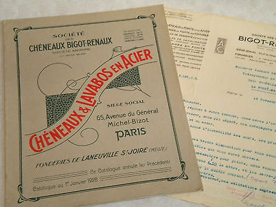vintage Catalogue Brochure 1928 Zinc Work roofing and public sinks paris french