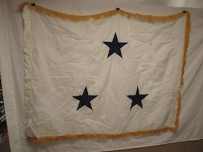 flag1033 US Navy 3 Star Vise Admiral White with Gold fringe not  Command W11E