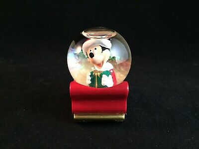 Vintage 2003 Disney Mickey Mouse Christmas Snow Globe Exclusively for JCPenney