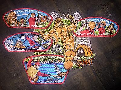 2017 Boy Scout Jamboree - BSA Blue Mountain Council - Collector's Patch Set