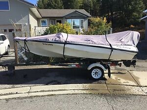 1983 Larson 14ft Speed Boat with Ski Pole Rebuilt 85hp Mercury