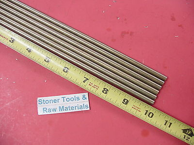 6 Pieces Of 14 C360 Brass Solid Round Rod 10 Long .250 Lathe Bar Stock