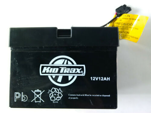 Kid Trax 12 Volt GENUINE Battery 12V 12AH With Black Plug