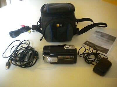 Samsung F40 Ultra Zoom Camcorder (Black) With Case and all Accessories NICE! Samsung Camcorder Cases