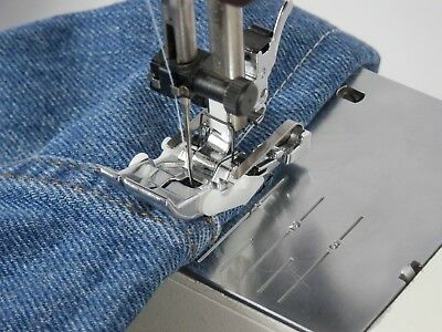 Bernette MAGIC JEANS HEMMING FOOT Sew Thick Jean Hems Without Any Trouble!