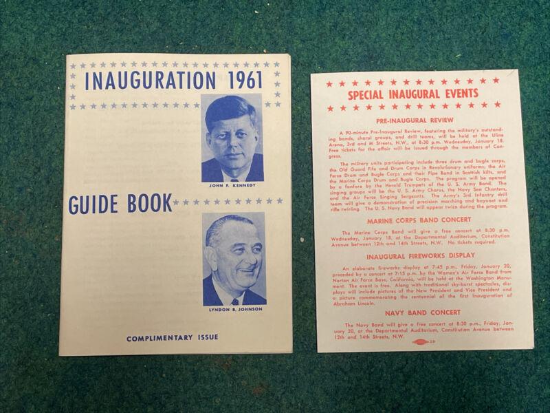 Official 1961 President John F Kennedy Inauguration Inaugural Guide Book JFK