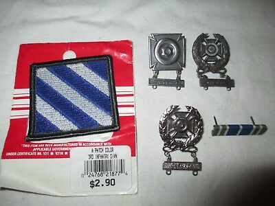 US Army Pin & Patch lot!  Marksman Qualification Badges!  Grenade & Driver-T
