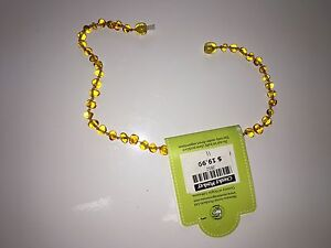 Amber necklace brand new from cheeky monkey
