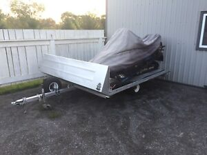 Double tilt skidoo trailer