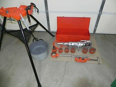Ridgid 700 Power Threader 115v12r Set 12 - 2case Oiler Rigid Nice