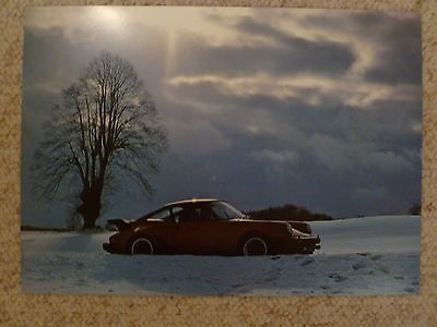 1979 Porsche 911 Turbo Coupe Showroom Advertising Poster RARE!! Awesome L@@K