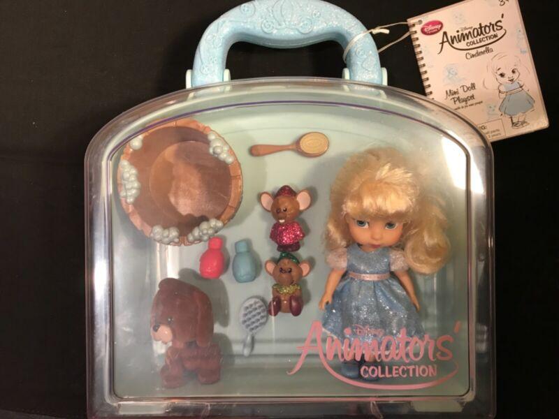 "Disney Store Animators Collection 5"" Cinderella Mini Play set w/carrying case"
