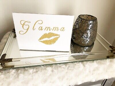 Glamma Gold Canvas Art Table Accent Modern Home Decor Birthday Gift Ideas Sale ()