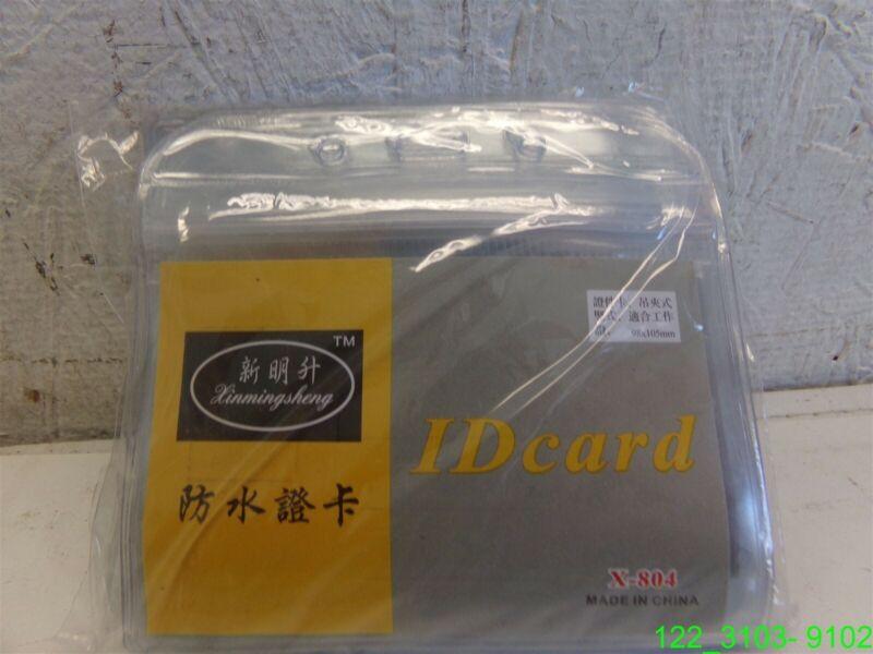 LOT OF 30: ID CARD PLASTIC HOLDER X-804 - NEW