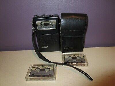 Lanier MS-105 Micro Cassette Player Personal Voice Recorder Tape Dictation, Case