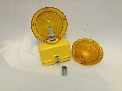 10- Amber Flashing Road Construction Safety Barricade Warning Lights New