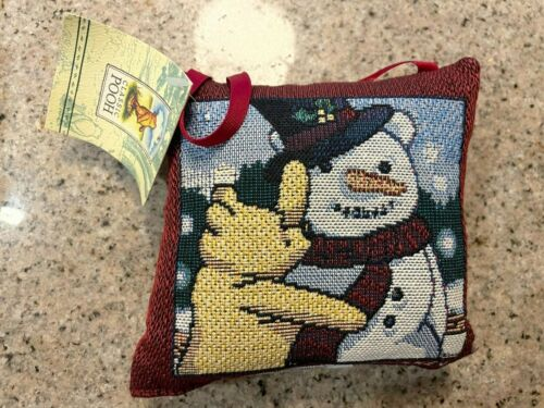 New Disney Classic Winnie the Pooh Goodwin Weavers Knit Pillow Ornament RARE