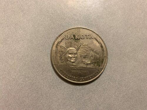 Dakota Territory Centennial Medal - Four Bears -  50¢ In Trade Token - N. Dakota