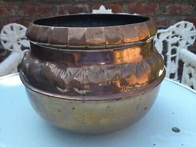 VICTORIAN COPPER FLOWER POT