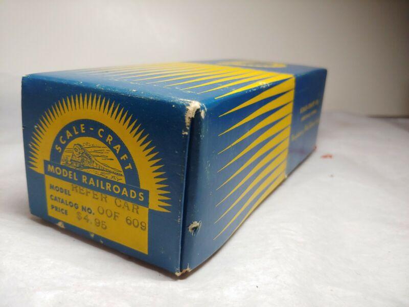 Vintage OO Scale Gauge Scale Craft Reefer Car Kit in box