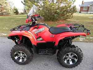 2009 YAMAHA GRIZZLY 550 EFI EPS 4WD AUTO ITP SS RIMS 1850KM MINT