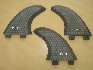 PERFORMANCE CORE surfboard THRUSTER FINS black (set x 3) FCS compatible
