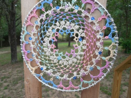 DOVE COUNTRY Tatted Suncatcher Dreamcatcher Wall Art Tatting Great Wedding Gift