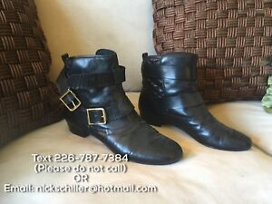 House of Harlow 1960 Black Leather Boots - Size 9.5