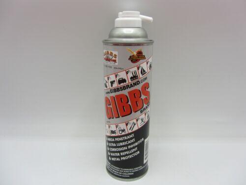 GIBBS BRAND LUBRICANT PENETRATING OIL CLEANER RESTORER ANTI CORROSIVE PENETRANT