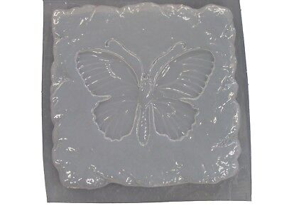 Stone Look Butterfly Stepping Stone Plaster or Concrete Mold 1110 (Butterfly Stepping Stone Mold)