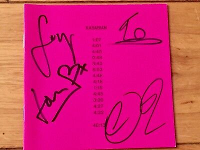 KASABIAN 48:13 SIGNED CD INSERT NEWBURY COMICS STORE (Newbury Boston Stores)