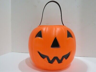 Empire Halloween Candy Bucket Pail Blow Mold Jack O Lantern 3346