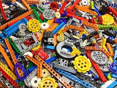 💥100 LEGO Bulk Lot Technic Mindstorms NXT EV3  Liftarms Beams Axles Pins Gears