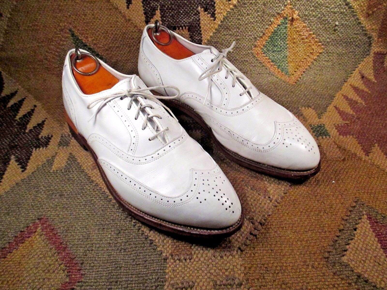 b8c3dfe3070a6 Etonic the ULTIMATE White Leather Wingtip Golf Shoe Size USA-9 D ...