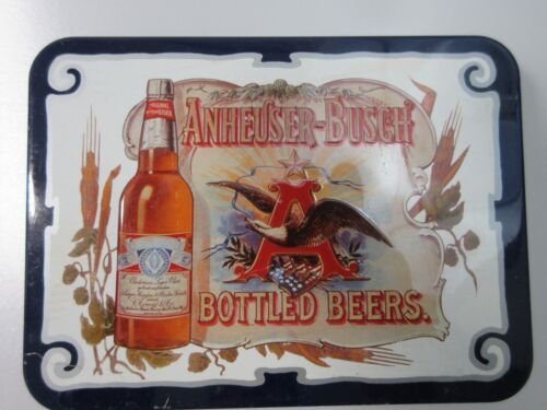 Vintage Anheuser Busch Bottled Beers Playing Cards 2 Decks Collectible Tin 1988