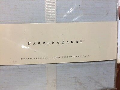 - Barbara Barry Field of Dreams Dream Percale Standard Pillowcases 220tc  NIP