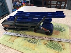 Mattel HOT WHEELS Blue Cargo Car Carrier Hauler