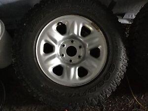 2  Goodyear wrangler tires