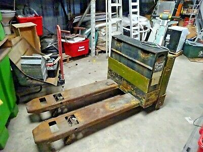 Nippon Nyk Pldm20-21-a48 12v Electric Pallet Jack Mover 4000lbs Works Great